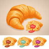 Delicious croissant Stock Image