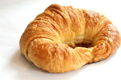 Delicious croissant isolated over white background. Royalty Free Stock Photos