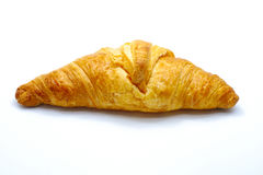 Delicious croissant isolated on white background, tasty breakfast food Stock Photo