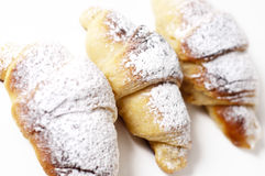 Delicious croissants against a white background Royalty Free Stock Photography