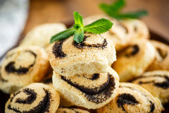 Delicious crumbly biscuits with poppy seeds Royalty Free Stock Photography