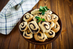 Delicious crumbly biscuits with poppy seeds Stock Image