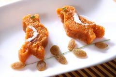 Apple Porridge, Apple Halwa stock image