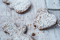Delicious and crunchy cookies Royalty Free Stock Images