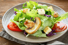 Delicious crunchy salad with mushrooms Royalty Free Stock Photo