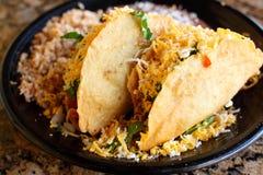 Delicious crunchy tacos Stock Photos