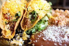 Delicious crunchy tacos Stock Images