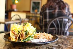 Delicious crunchy tacos Royalty Free Stock Images