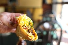 Delicious crunchy tacos Stock Photo