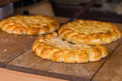 Delicious crusty golden savory tarts or pies Royalty Free Stock Photography