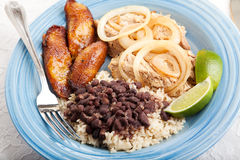 Delicious Cuban Dinner Royalty Free Stock Image