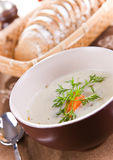 Delicious cucumber soup Stock Photos