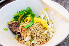 Delicious cuisine dry noodle. Stock Photography