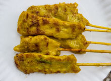 Delicious Cuisine food toast curry pork Satay Stock Image