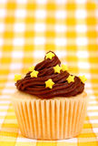 Delicious cup cake with stars Stock Image