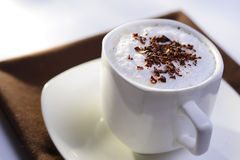 Delicious cup of cappuccino coffee Stock Photography