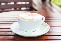 A delicious cup of coffee. Royalty Free Stock Photography