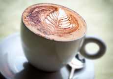 Delicious cup of hot cappuccino coffee Royalty Free Stock Image