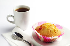 Delicious cupcake and coffee Royalty Free Stock Photography