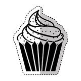 Delicious cupcake isolated icon Royalty Free Stock Image