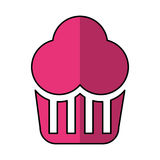 Delicious cupcake isolated icon Stock Image