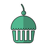 Delicious cupcake isolated icon Stock Photography