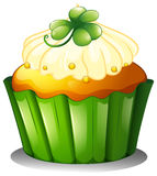 A delicious cupcake for St. Patrick's day Royalty Free Stock Image