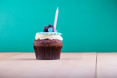 Delicious cupcake on table Royalty Free Stock Photo