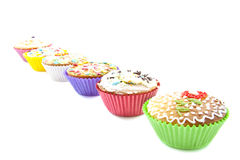 Delicious cupcakes Stock Photos