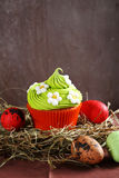 Delicious cupcakes with eggs Royalty Free Stock Photo