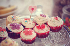 Delicious cupcakes Stock Photography