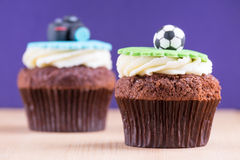 Delicious cupcakes on table Royalty Free Stock Photography