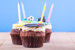 Delicious cupcakes on table Royalty Free Stock Photo