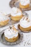 Delicious cupcakes with white cream Royalty Free Stock Photos