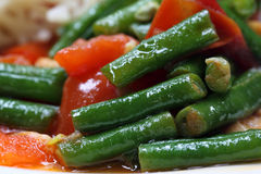 Delicious curry of yard long bean Royalty Free Stock Photo