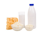 Delicious dairy products. Royalty Free Stock Photos