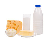 Delicious dairy products. Stock Photos