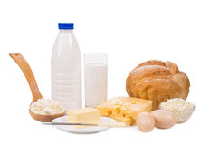 Delicious dairy products. Royalty Free Stock Photo