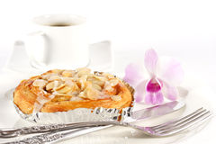 Delicious danish pastry with a cup of black coffee Royalty Free Stock Photography