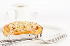Delicious danish pastry with a cup of black coffee Stock Photo