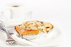 Delicious danish pastry with a cup of black coffee Stock Images