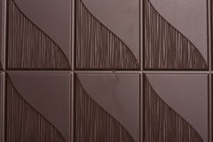 Delicious dark chocolate background Stock Images
