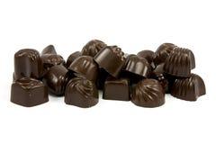 Delicious dark chocolate pralines Royalty Free Stock Photos