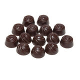 Delicious dark chocolate pralines Stock Image