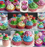Delicious decorated cupcakes Royalty Free Stock Image
