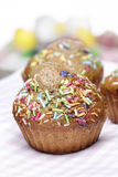 Delicious decorated muffins Royalty Free Stock Image