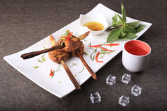 Delicious decorative traditional thai food stock photos