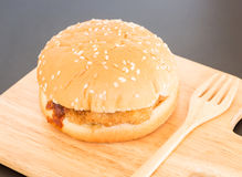Delicious deep fried pork burger Royalty Free Stock Photo