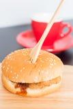 Delicious deep fried pork burger Royalty Free Stock Photos