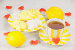Delicious delicious breakfast Valentine`s Day in beautiful plate Royalty Free Stock Photo